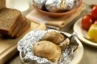 Картофель,  запеченный с салом