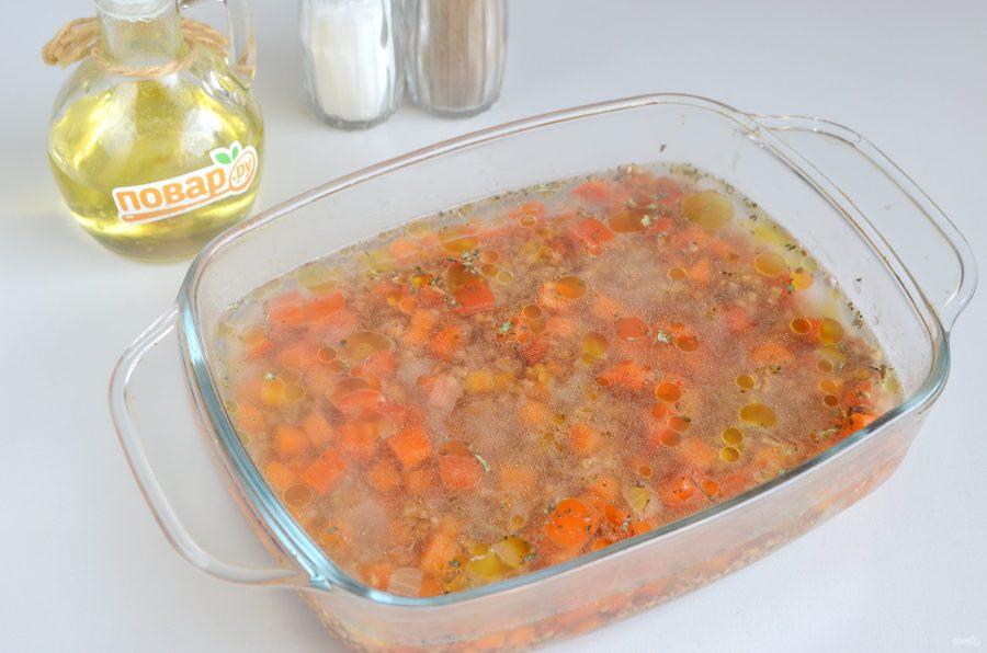 Гречка с овощами в духовке