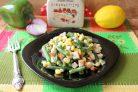 Постный салат с сухариками