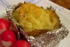Картофель в фольге с сыром