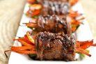 Роллы из свинины с овощами