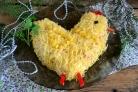 Салат Петушок из крабовых палочек