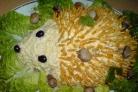 Салат Ежик с чипсами