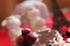 Творожно-земляничное пирожное