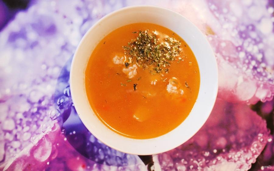 Картофельный суп-пюре с фрикадельками