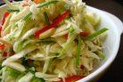 Капустный салат с пореем