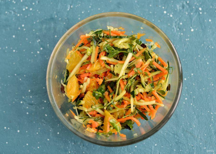 Салат с корейской морковью и апельсином