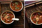 Острый вегетарианский суп