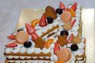 """Медовый открытый торт """"Цифра"""""""