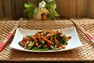 Стир-фрай из вешенок с морковью и овощами