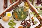 Суп с крапивой и яйцом