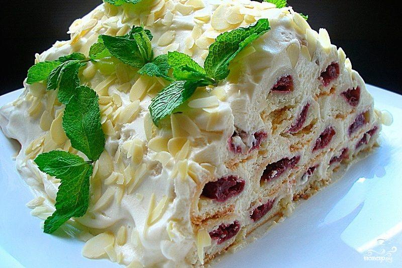 зимняя вишня торт рецепт с фото