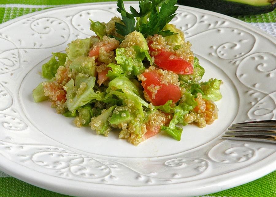 салат с киноа и авокадо пошаговый рецепт с фото на поварру