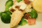 Запеченная курица в сливочном соусе