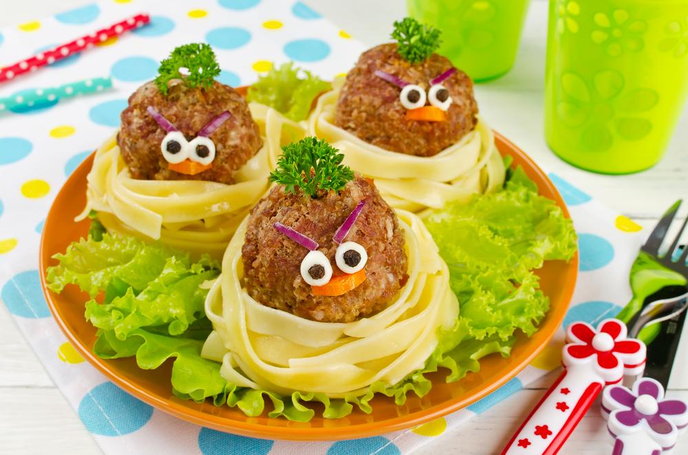 Колобки, мясные тефтели Angry Birds