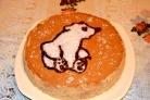 Детский торт с мишкой