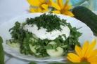 Салат из щавеля с огурцом