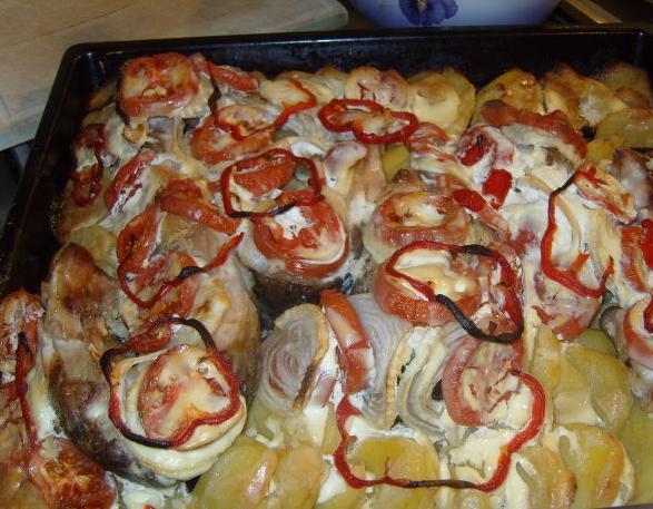карп в духовке кусочками рецепты