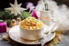 Крабовый салат с йогуртовой заправкой