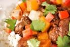 Жаркое из свинины, репы и картофеля