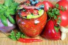 Жареные баклажаны в томатном соусе на зиму