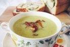 Суп-пюре из кабачков с грибами