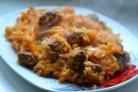 Тушеная капуста с мясом в духовке