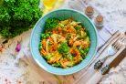Салат с жареным луком и морковью