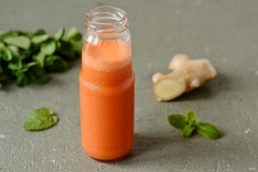 Морковный фреш с имбирем