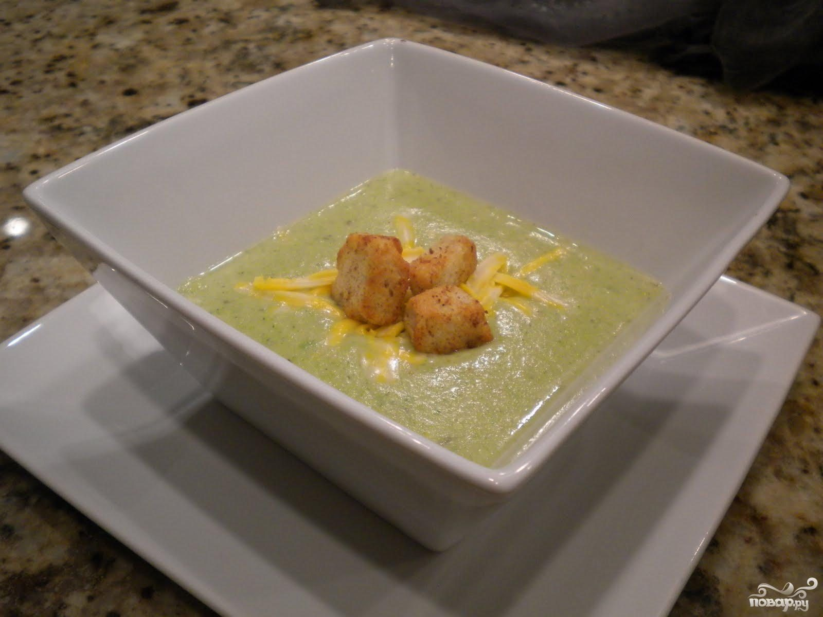 Рецепт Суп с брокколи и сыром