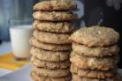 Овсяное печенье с белым шоколадом и миндалем