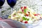Салат с капустой и креветками