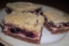 Пирог со смородиновым джемом