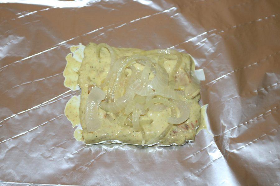 Горбуша в кефирном маринаде