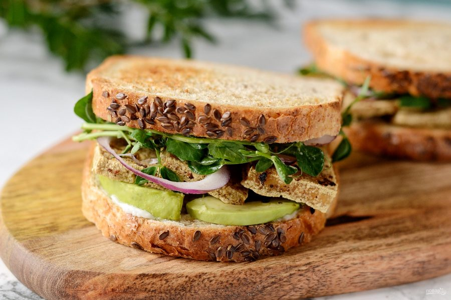 Сэндвичи с сыром тофу