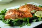 Запеченные филе лосося Дижон