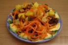 Салат из корейской моркови с грибами