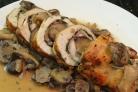 Рулет из индейки с грибами и сыром