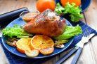Голень индейки на сковороде