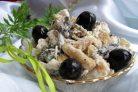 Салат с грибами маринованными