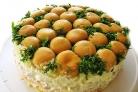 Салат Зеленая поляна с грибами