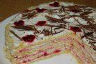 Песочный торт со сметанным кремом