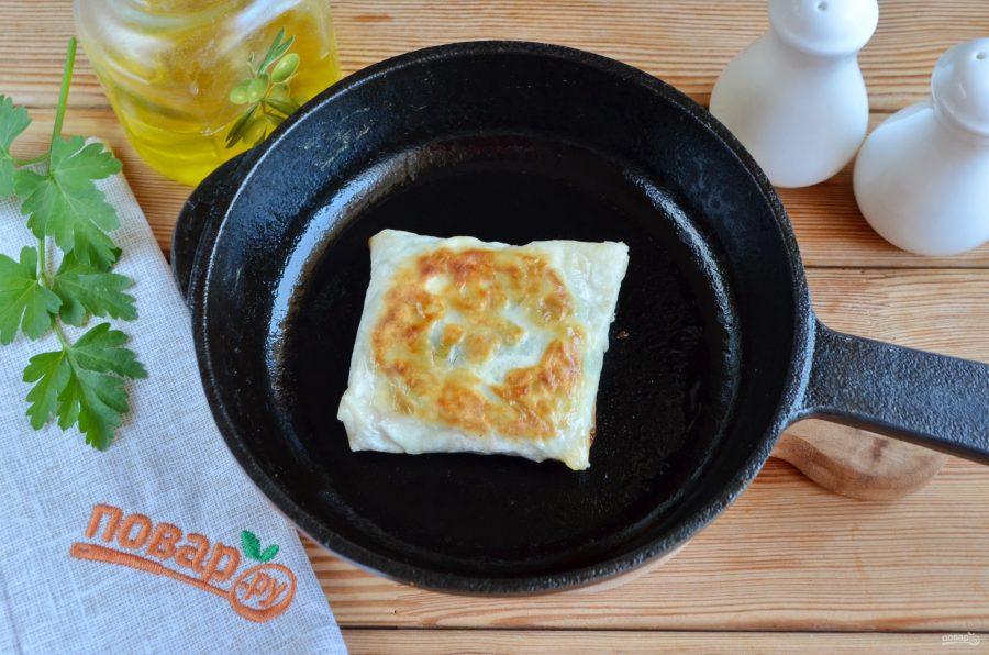 Лаваш с яйцом и шпинатом