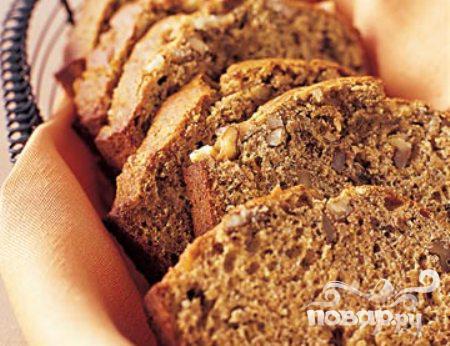 Рецепт Рецепт бананового хлеба с орехами