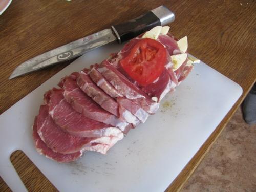 Мясо-гармошка в духовке