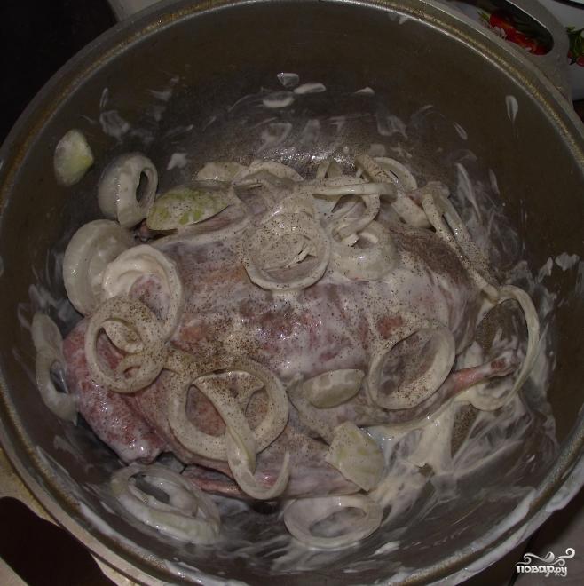 утка в духовке со сметаной