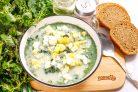 Молочный суп с крапивой