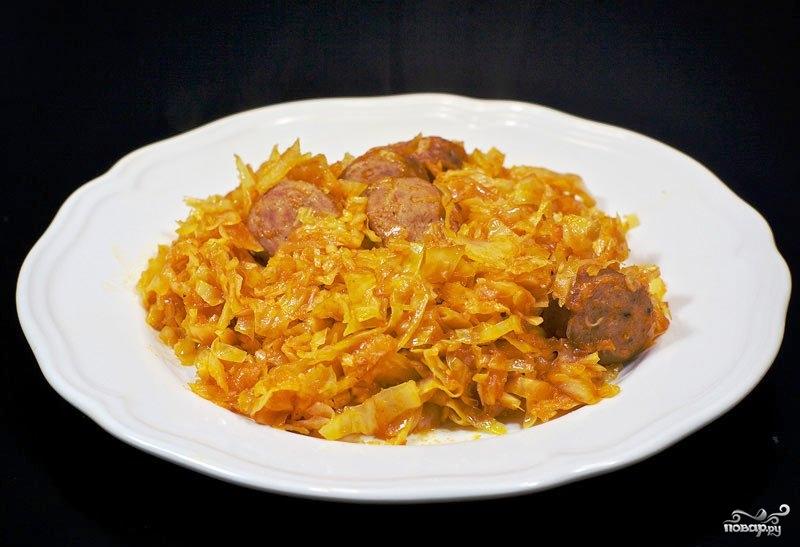 рецепт с сосисками второе блюдо #12