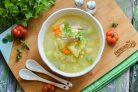 Суп с булгуром и кабачком