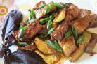 Мясо с кабачками